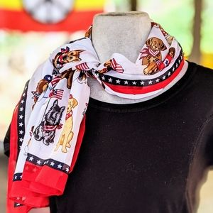 Dog Lovers Patriotic Scarf #hundredsofscarves